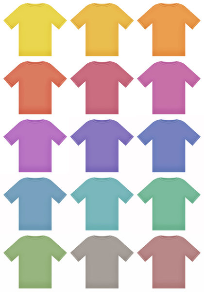 T Shirts: Variations on a T Shirt graphic.Please visit here for Hi Res:http://www.stockxpert.com ..