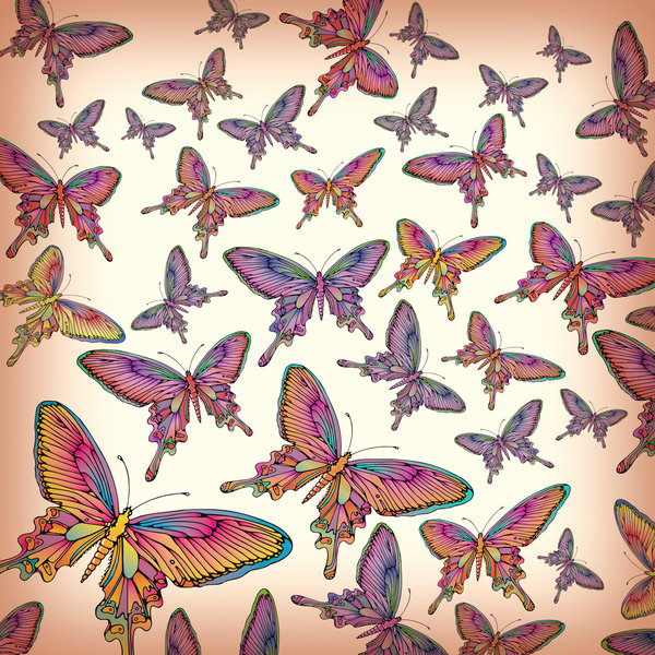 Butterfly Collage: A butterfly wallpaper collage.Please visit my stockxpert gallery:http://www.stockxpert.com ..