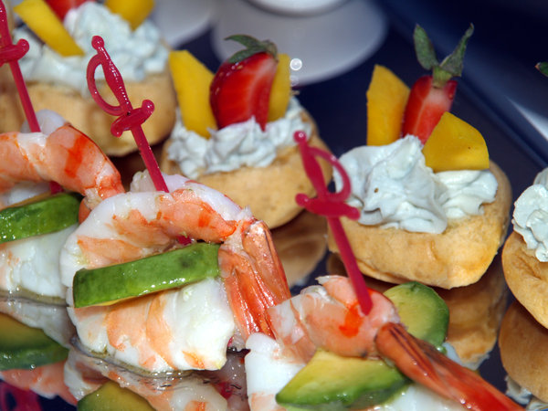 Shrimps: Shrimps served in a hotel in Turkey