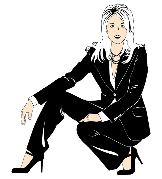 Business Woman 2: Vector Art