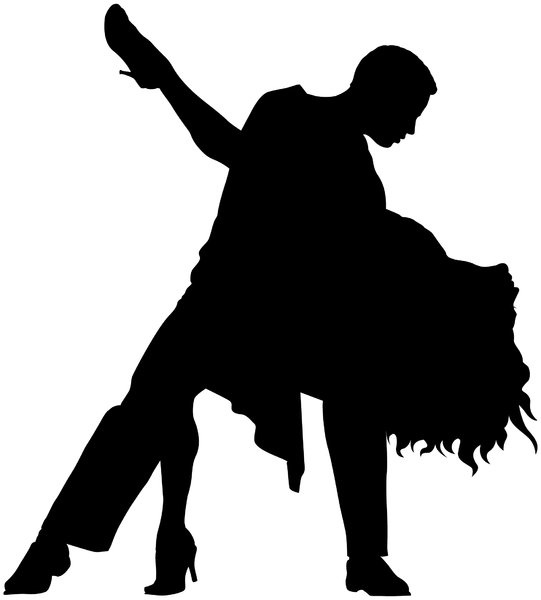 Dancers Silhouette: Vector Art