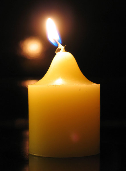 Yellow candle: ...
