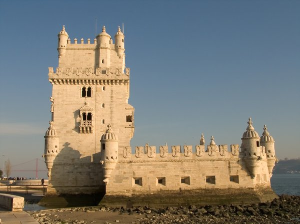Belem tower 1: Torre de Belém (Belem Tower), one of the symbols of Lisbon, Portugal.