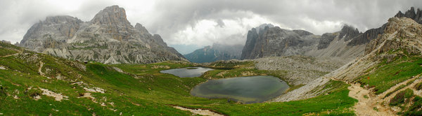 Panorama of Dolomites: Panorama view of Dolomites, Italy