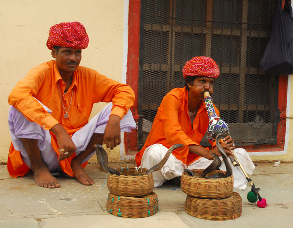 Incredible India: Snake-charmers in Jaisalmer, Rajastan, India