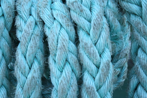 Blue rope: blue rope from small ferry