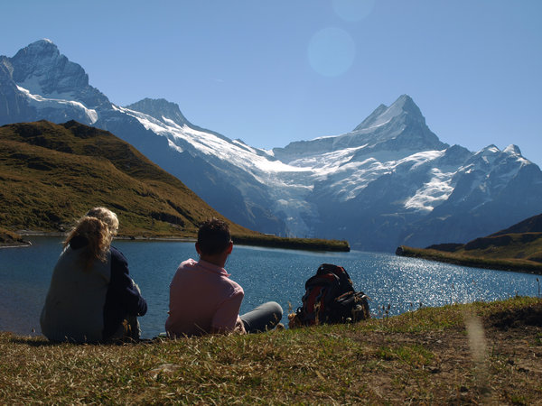 mountain lake: Taken on my hikingtrip in swiss, yep thats my......