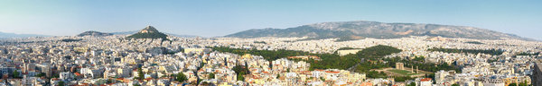 Athens panorama: panorama view of Athens, Greece from Acropolis
