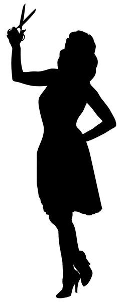 Seamstress Silhouette: Vector Art