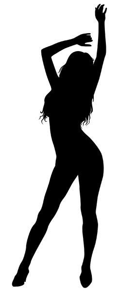 Silhouette Pose 22: Vector Art
