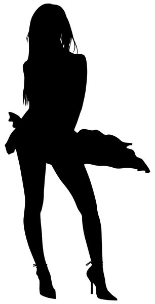 Silhouette Pose 29: Vector Art