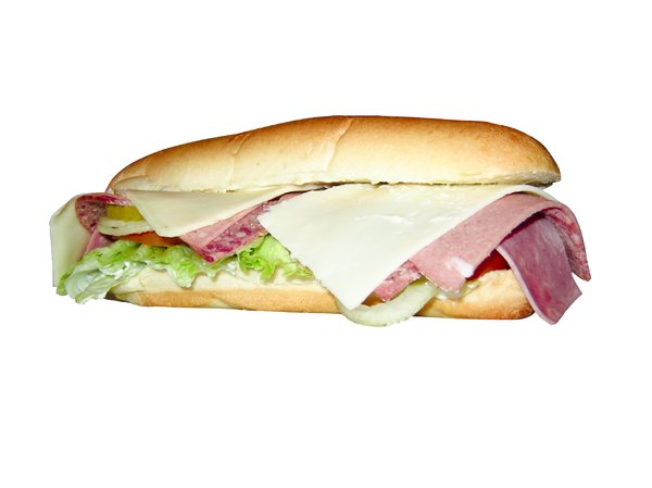 Cold Sandwich: 3- meat  submarine sandwich