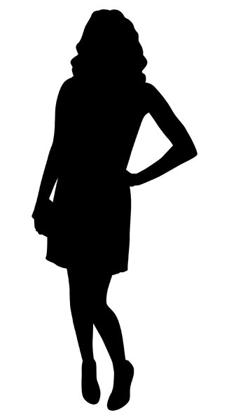 Silhouette  Pose 2: Vector art