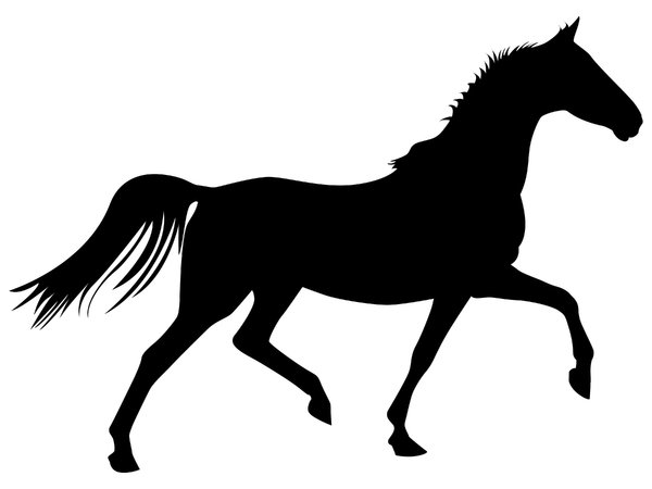 Trotting Horse: Vector Art