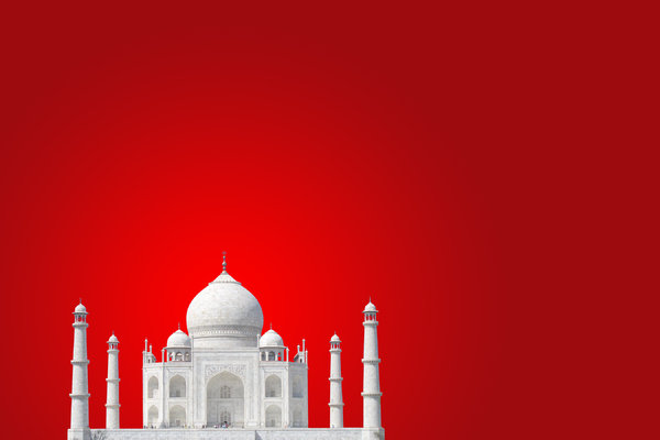 Taj Mahal 5: Taj cutout on different backgrounds