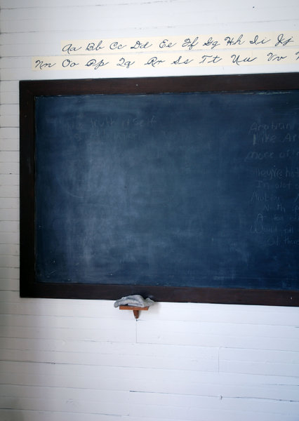 Blackboard: Blackboard in a one room school.