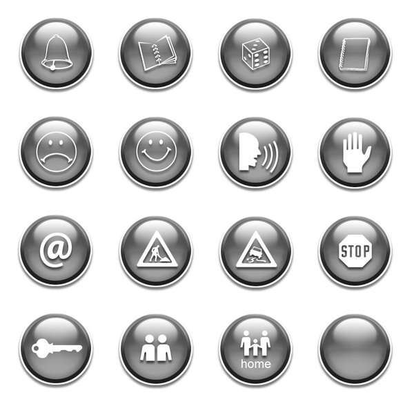 Glossy web button set.: PS made glossy web button set.http://www.dezignia.com