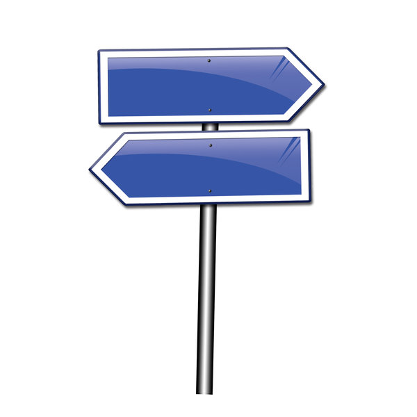 Sign: Opposite direction sign