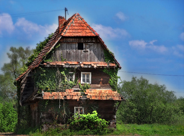 Old house: More picture like this on http://lonjsko-polje.com