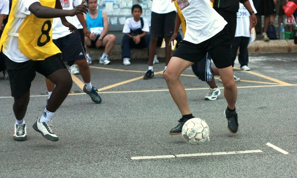 A Game Of Futsal: Snapshot of a street futsal match