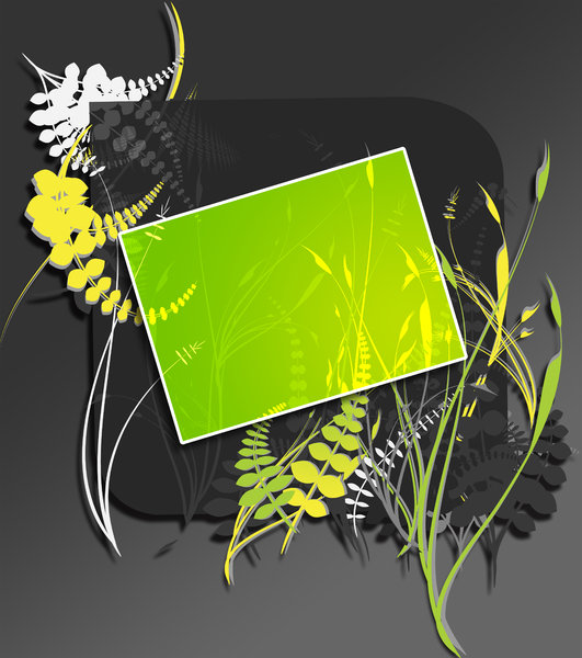 Foliage: PHEW !!!I finally Fixed the download error. :)A beautiful vector art where you can Insert your text in the green space.