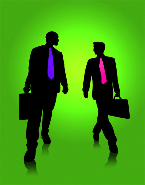 Business Silhouette: Business deal concept