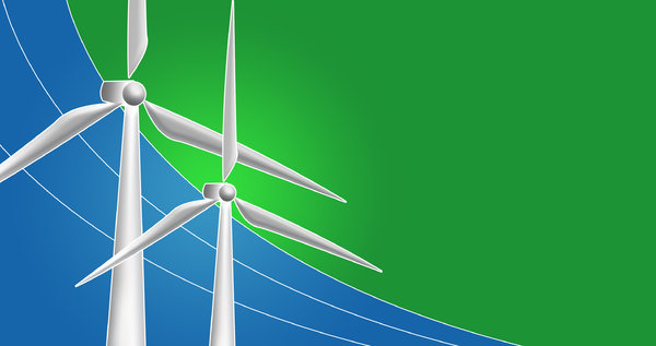 Wind Energy: Concept illustration for renewable energy