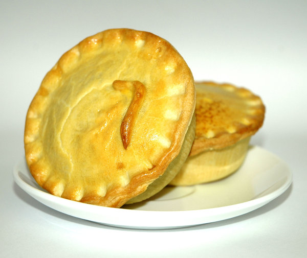 2 Pies: 2 pies. Photographed. Eaten. Enjoyed.NB: Credit to read