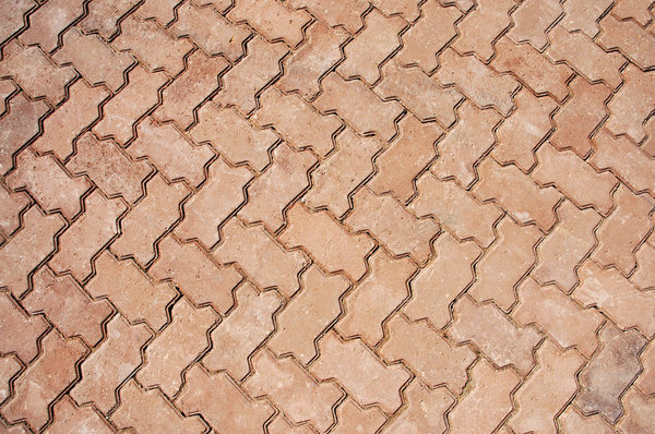 Paving Bricks: Shot over paving bricks.NB: Credit to read