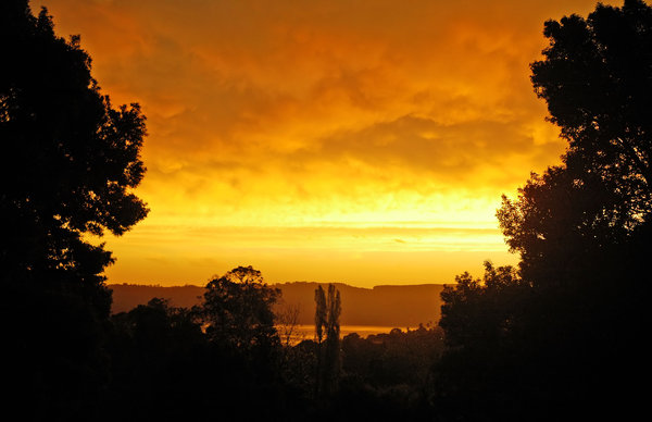 Orange sky: From my house, thought I'd share it...NB: Credit to read