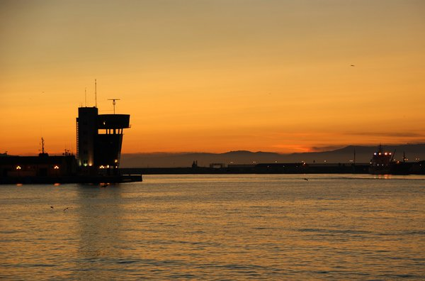 Control tower: Public control tower in the port of Ceuta.