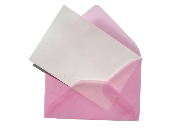 pink envelope 1: time to write a message