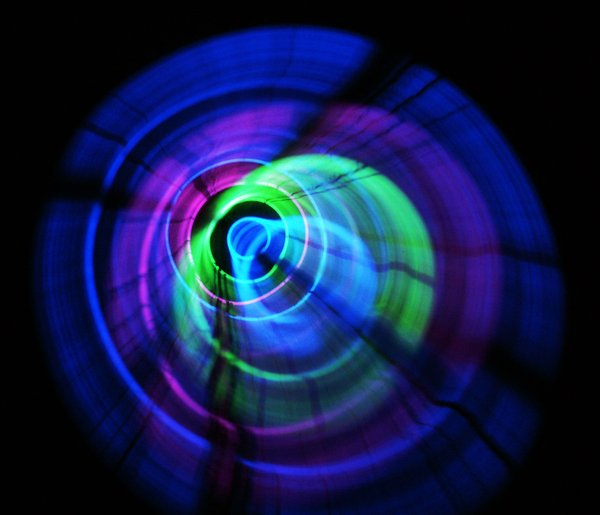 Vortex Light Play: Glow sticks on time exposure