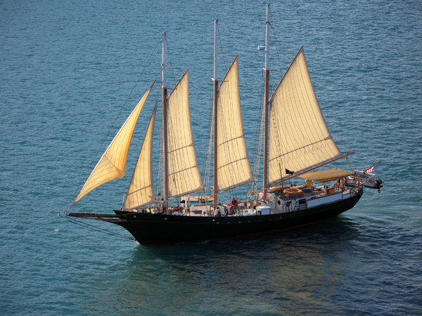 Schooner: Schooner on the Caribbean.