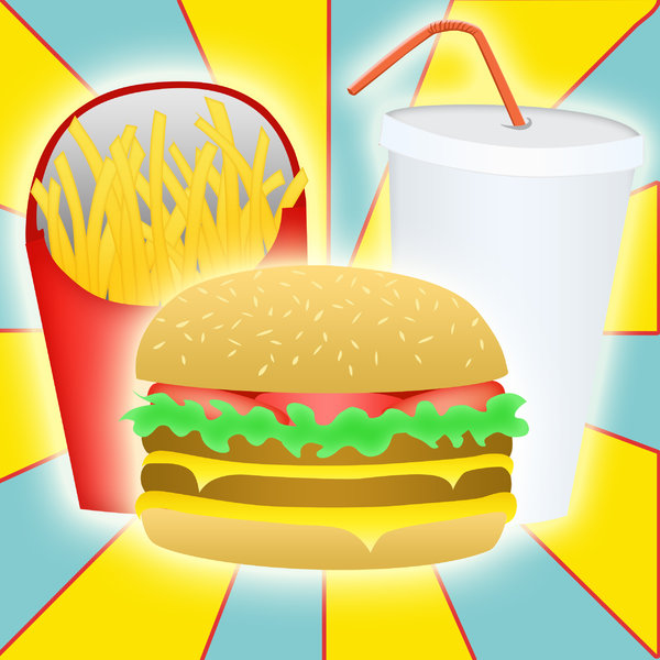 Burger, drink and fries: visit my site ozaidesigns.com for more of my free illustrations!A burger meal! **If you download this for online use, dont give me credit but DO send a link, I love to see how my work is used!