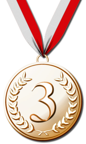 medal: first, second, third place