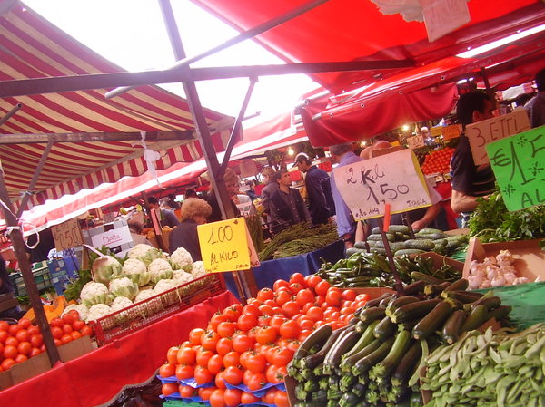 Market in Torino City 2: The explosion of colors in a caracteristic italian market.