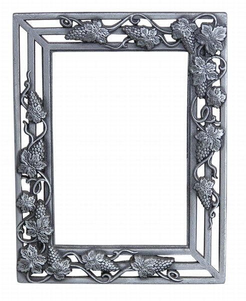 A frame: Just a silver frame.