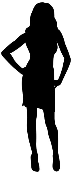 Silhouette Pose 5: Vector Art