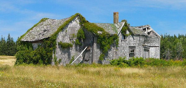 Home Grown: Old house near Port George, Nova Scotia, Canada