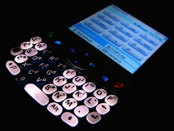 Palm Treo 650: Lit up