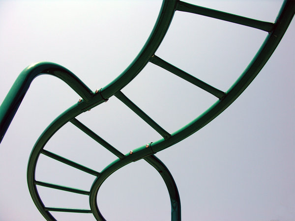 Twisted: Another playground device shot from the ground looking up.