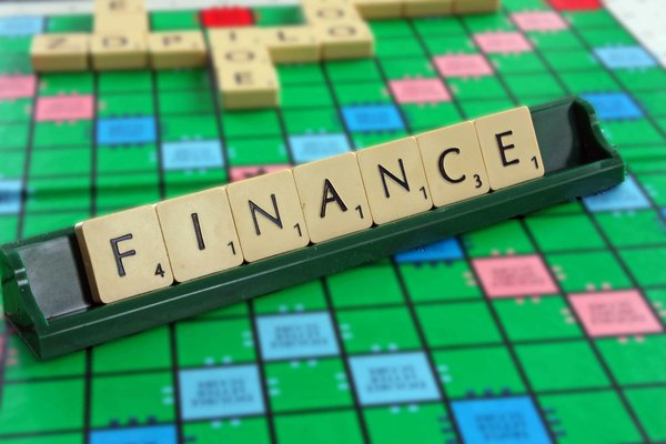 Finance Blocks: Finance spelt out on a traditional board game