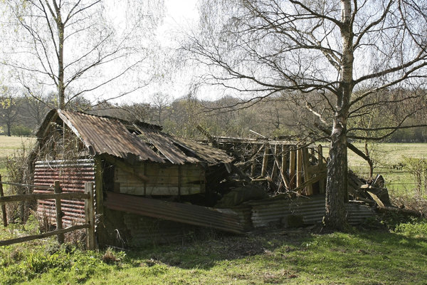 Remains of the day: An old derelict shed in West Sussex, England.