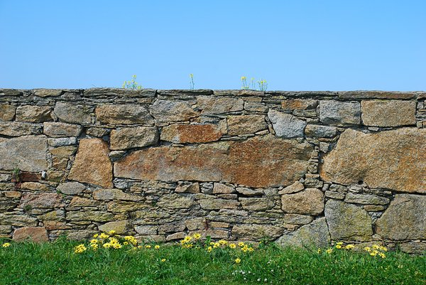 Layers: Layers: sky, wall, grass