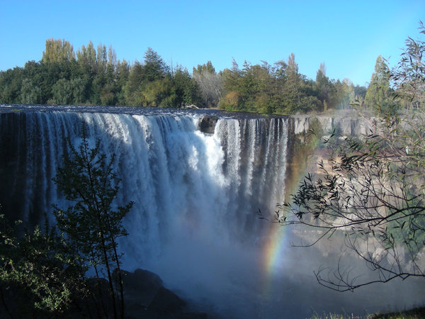 salto de laja: waterfall in Chile