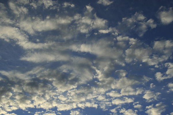 Clouds at dawn: Cloud formations in West Sussex, England, at 6am in summer.
