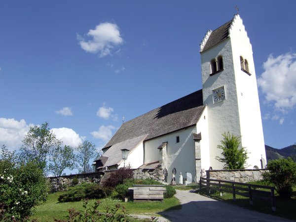 church: church at a hill in bruck in pinzgau, salzburg, austria