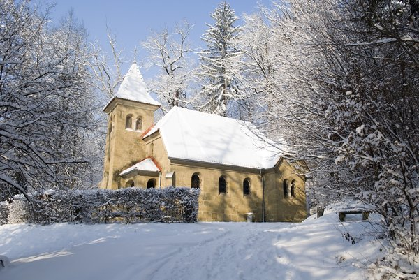 Church at winter: Church,chapell in winter forrest