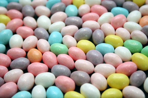PASTEL JELLY BEANS: SEASONAL JELLY BEANS. THOSE THAT DID NOT FULLY COOPERATE  WERE SUMMARILY EATEN.
